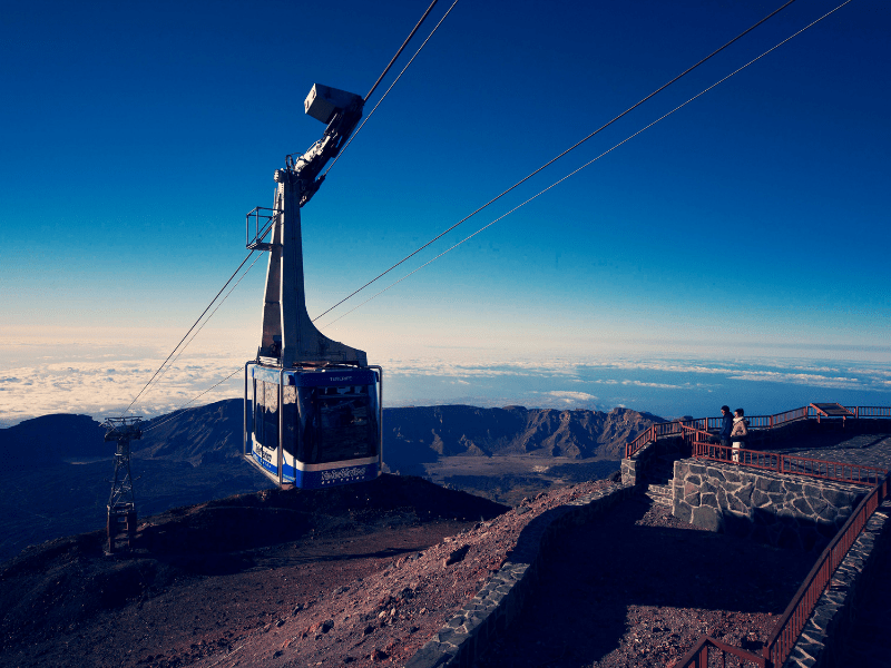 Mount Teide Cable Car Exists